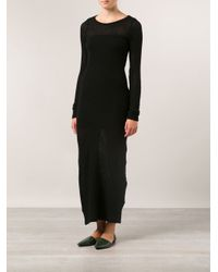 The Elder Statesman - Black 'Cut And Sew' Sweater Dress - Lyst