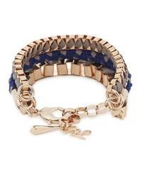 John & Pearl | Blue Akumal Rose Gold Tone Bracelet | Lyst