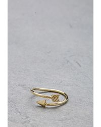 Forever 21 - Metallic Flash Trash Girl Arrow Midi Ring - Lyst