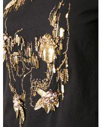 Alexander McQueen - Black Beaded Skull T-Shirt - Lyst