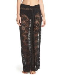 Free People | Black Scalloped Lace Half Slip | Lyst