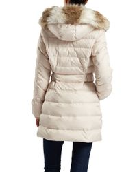 Dawn Levy | White Belted Detachable Hood Jacket | Lyst