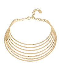 Robert Lee Morris | Metallic Textured Multi-row Collar Necklace | Lyst