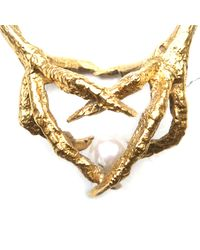 Tessa Metcalfe | Metallic Double Claw Necklace | Lyst