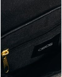 ASOS - Black Cross Body Bag with Chunky Lock - Lyst