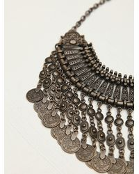 Free People | Brown Chanour Womens Antalya Coin Collar | Lyst