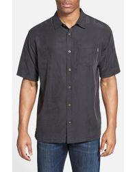 Jack O'neill - Black 'ohana' Regular Fit Short Sleeve Camp Shirt for Men - Lyst