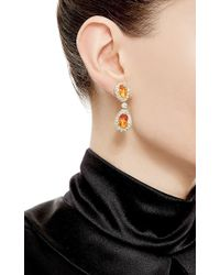Nicholas Varney | Red One Of A Kind Fire Opal And Diamond Ear Pendants | Lyst