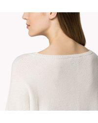 Tommy Hilfiger | White Cashmere Chevron Sweater | Lyst