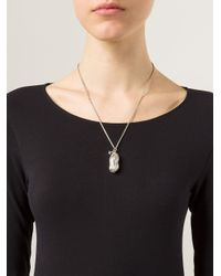 Vivienne Westwood | Metallic 'ryan' Peanut Locket Pendant Necklace | Lyst