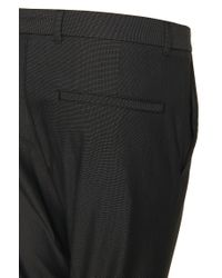 HUGO - Black 'heldor'   Extra Slim Fit, Stretch Cotton Dress Pants for Men - Lyst