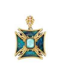 Armenta - Metallic Medieval Square-cross Opal Enhancer - Lyst