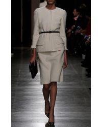Oscar de la Renta - White Pencil Skirt In Merino Wool - Lyst