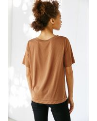 Silence + Noise | Brown Claudia Crew Neck Tee | Lyst