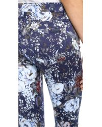 7 For All Mankind - Blue The High Waisted Skinny Jeans Duchess Garden Print - Lyst
