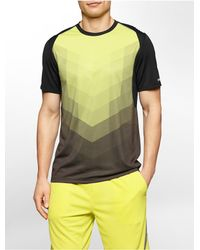Calvin Klein | Black White Label Performance Classic Fit Chevron Print T-shirt for Men | Lyst