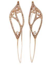 Federica Rettore Metallic Hoop Earrings