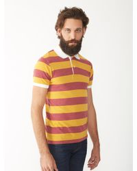 Alternative Apparel | Red Ugly Striped Polo Shirt for Men | Lyst