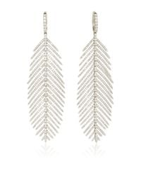 Sidney Garber Metallic Feathers That Move Earrings