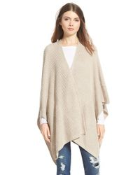 Halogen | Natural Ribbed Cape | Lyst