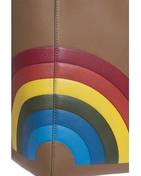 Anya Hindmarch - Brown Ebury Featherweight Rainbow Bag - Lyst
