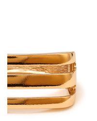 Forever 21 - Metallic Clear Cut Hinge Bracelet - Lyst