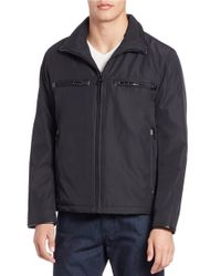 Andrew Marc | Black Astoria Moto Jacket for Men | Lyst