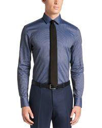 BOSS - Blue 'jenno' | Slim Fit, Italian Cotton Dress Shirt for Men - Lyst