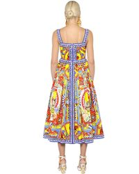 Dolce & Gabbana | Multicolor Pasticceria Printed Cotton Poplin Dress | Lyst