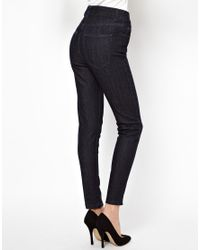 Just Female | Blue High Waist Skinny Jeans | Lyst
