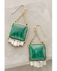 Anthropologie | Metallic Malachite Fringe Drop Earrings | Lyst