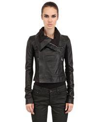 Rick Owens - Black Nappa Leather Biker Jacket for Men - Lyst