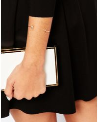 Ted Baker | Metallic Carise Cupids Arrow Ultra Fine Cuff Bracelet | Lyst