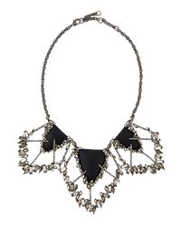 Alexis Bittar | Metallic Crystal-baguette Cluster Bib Necklace | Lyst