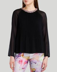 Ted Baker - Black Top - Lovina Beaded - Lyst