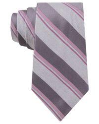 Michael Kors - Gray Michael Remembrance Stripe Tie for Men - Lyst