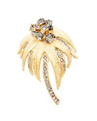 Dolce & Gabbana | Metallic Crystal Embellished Brooch | Lyst