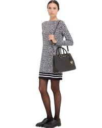 MICHAEL Michael Kors | Black Medium Sutton Saffiano Leather Bag | Lyst