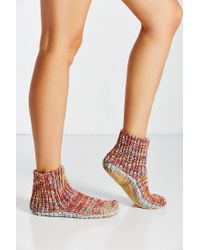 Urban Outfitters - Multicolor Mixed Stitch Knit Slipper Sock - Lyst