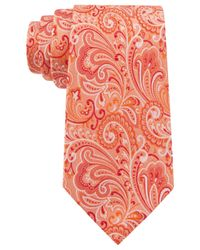 Geoffrey Beene - Orange Paisley Statement Tie for Men - Lyst