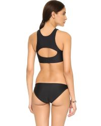 Mikoh Swimwear | Black Marrakesh Crop Bikini Top | Lyst