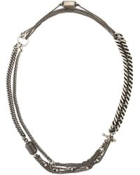 Ann Demeulemeester - Metallic Chain Necklace - Lyst