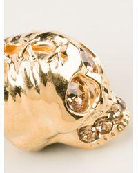 Alexander McQueen - Metallic Skull Necklace - Lyst