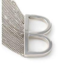 MM6 by Maison Martin Margiela - Metallic Fringed Double Ring - Lyst
