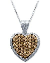 Le Vian | Brown Diamond And Chocolate Diamond Pendant Necklace (1-7/8 Ct. T.w.) In 14k White Gold | Lyst