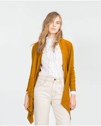 Zara | Yellow Wrap Jacket | Lyst