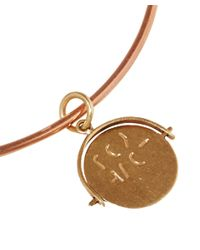 Annina Vogel - Metallic Gold I Love You Charm Bangle - Lyst
