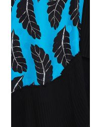 Thakoon   Blue Leaf Print Pleated Dress   Lyst