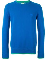 KENZO - Blue 'tiger' Jumper for Men - Lyst