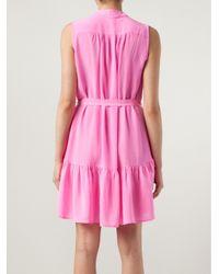 Saloni - Pink Tilly Dress - Lyst